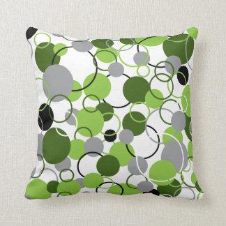 Green Circles Pattern Pillow