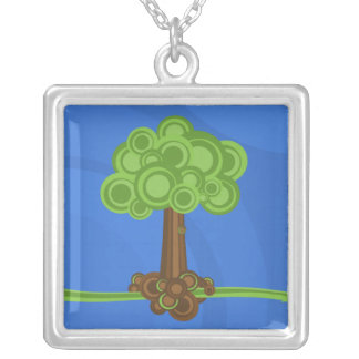 Green Circles Tree Necklace