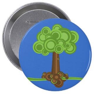 Green Circles Tree Pinback Button