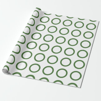 Green Circles Wrapping Paper