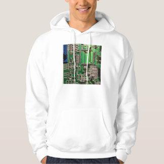 green circuit board design hoodie