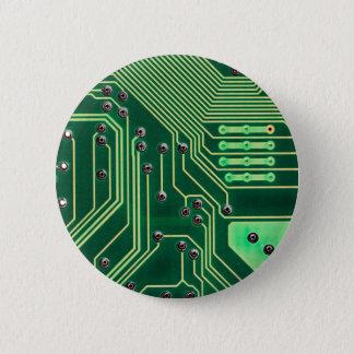 Green Circuit Board - Electronic Print Pinback Button