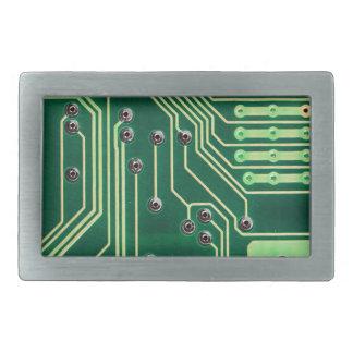 Green Circuit Board - Electronic Print Rectangular Belt Buckle