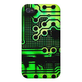Green Circuitry  iPhone 4 Case