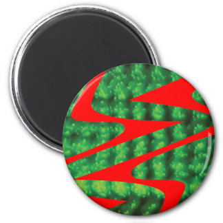 green circular pattern fridge magnets