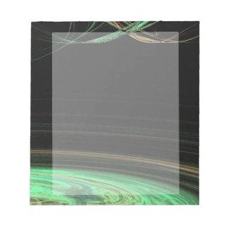 Green Circular Space Fractal Notepad