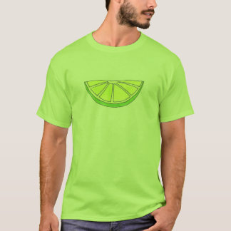 Green Citrus Fruit Fruity Sour Lime Wedge Slice T-Shirt