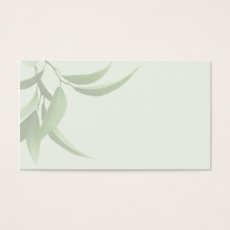 green citrus leaves business card
