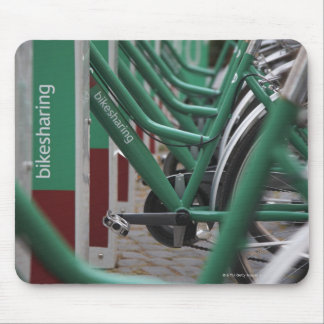 Green city transport mouse pad