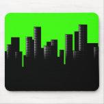 green cityscape mousepad
