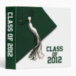 "Green Class of 2012 Graduation 1.5"" Photo Album Binders"