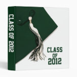 "Green Class of 2012 Graduation 1"" Photo Album 3 Ring Binder"