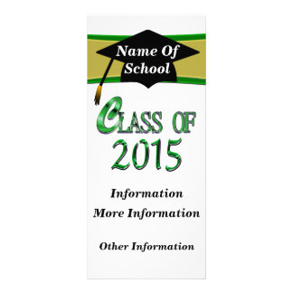 Green Class Of 2015 Rack Cards