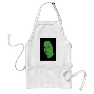 Green Classic Art Face Adult Apron