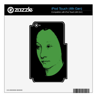 Green Classic Art Face Decal For iPod Touch 4G