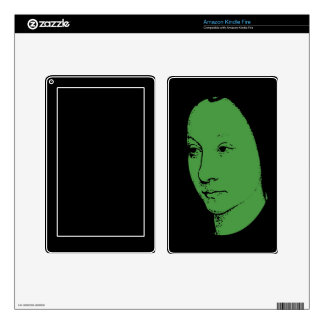 Green Classic Art Face Skin For Kindle Fire
