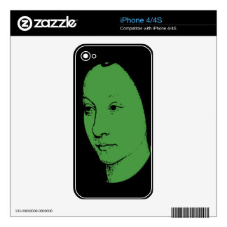 Green Classic Art Face Skins For The iPhone 4