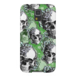 Green classic skull and roses products. PJ. Galaxy S5 Covers