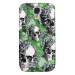 Green classic skull and roses products. PJ. Samsung Galaxy S4 Cases