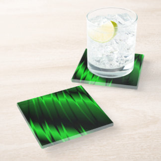 Green Claws Glass Coaster