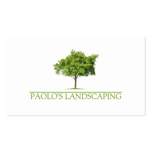 Green Clean Tree Landscaping Business Card Templates