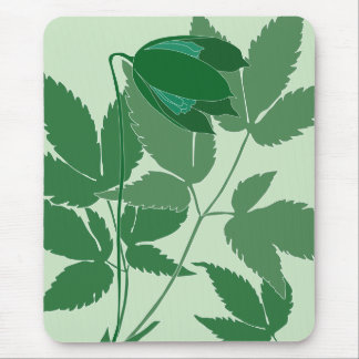 green clematis mouse pad