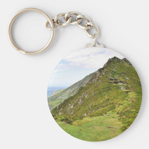 Green Cliffs In Ireland Key Chain