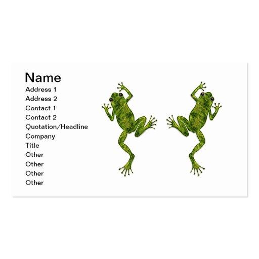 Green Climbing Tree Frog Business Card