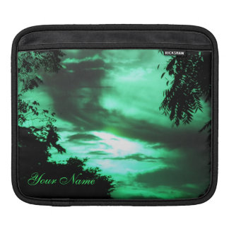 Green Clouded Sky iPad Sleeve *personalize*