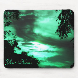 Green Clouded Sky mousepad
