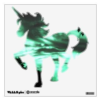 Green clouded Unicorn wall decal