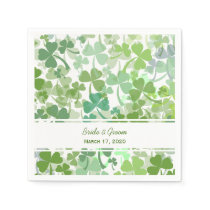 Green Clover All Over Wedding Paper Napkins