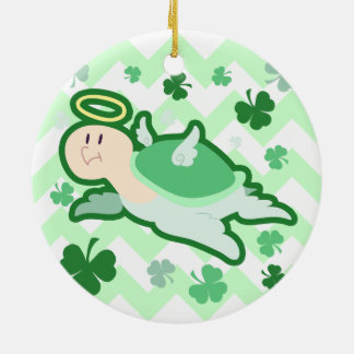 R Turtles Lucky Green Clover Angel Turlte