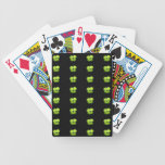 Green Clover Bicycle Playing Cards