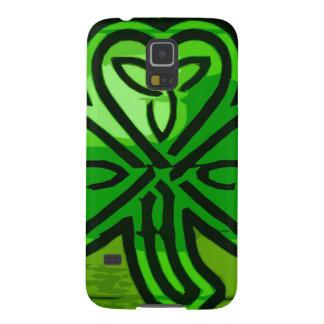Green clover case for galaxy s5