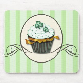 Green Clover Cupcake Mousepad