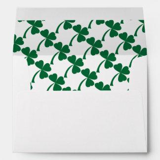 Green clover envelopes