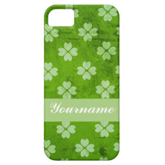 Green Clover Hearts iPhone SE/5/5s Case