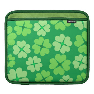 Green clover sleeves for iPads
