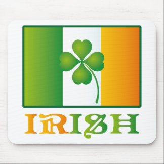 Green Clover Irish Flag St. Patrick's Day Mouse Pad