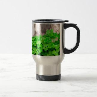 Green Clover Irish Sign Travel Mug