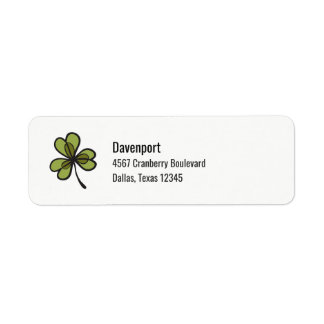 Green Clover Leaf Label