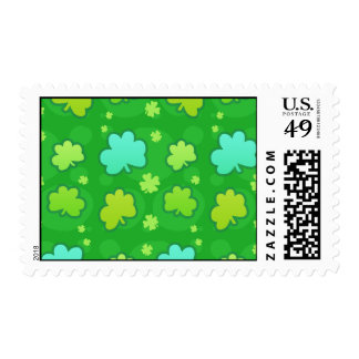 Green Clover Pattern Postage Stamp Postage Stamps
