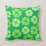 Green clover pillows