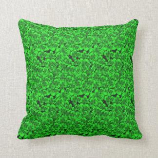 Green Clover Plant Throw Pillow