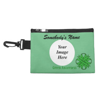 Green Clover Ribbon Accessory Bags