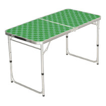Green Clover Ribbon Beer Pong Table