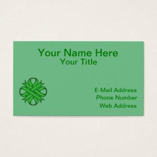 Green Clover Ribbon Business Card