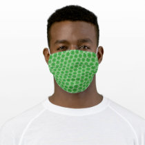 Green Clover Ribbon by Kenneth Yoncich Adult Cloth Face Mask