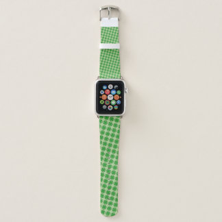 Green Clover Ribbon by Kenneth Yoncich Apple Watch Band